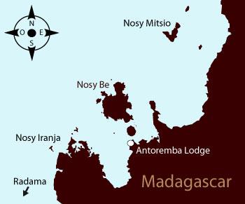 Antoramba Lodge - Carte de Madagascar