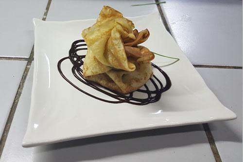 dessert crepe